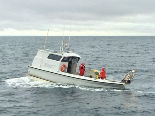 F/V Fishing Time Taking on Water (credit: U.S. Coast Guard)