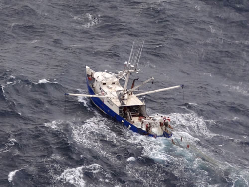 F/V Golden Nugget aerial photo (credit: U.S. Coast Guard)