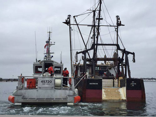 F/V Mistress Engine Failure (credit: U.S. Coast Guard)