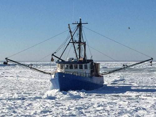 F/V Misty Blue Iced In  (credit: U.S. Coast Guard Aids to Navigation Team Woods Hole)