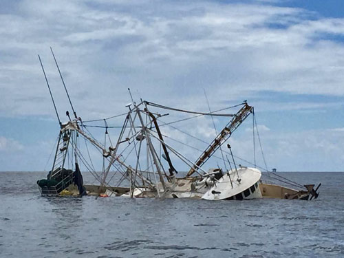 F/V Ritchie Rich Sunk (credit: U.S. Coast Guard)