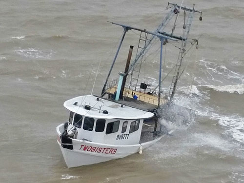 F/V Two Sisters Sunk (credit: U.S. Coast Guard)