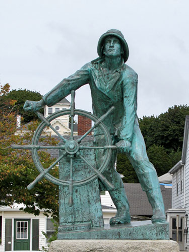 gloucester ma man at wheel fishermens memorial