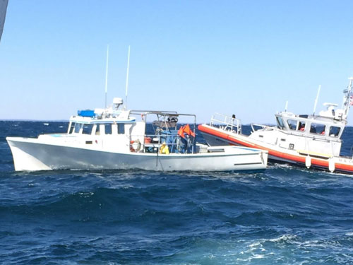 Fishing Boat Sinking off Rhode Island (credit: U.S. Coast Guard)
