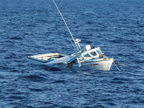 Sea Shepard Sinking  (credit: U.S. Coast Guard)