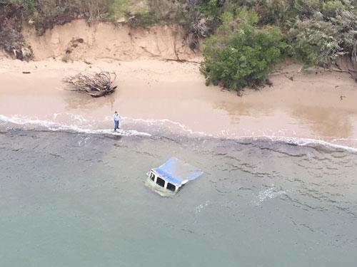 Eagle III Wreckage (credit: U.S. Coast Guard)