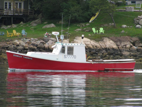 New England inshore lobster boat