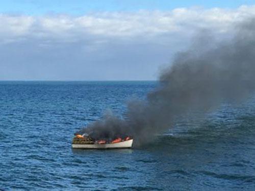 Miss Lynn Fire  (credit: U.S. Coast Guard)