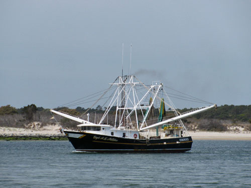 Trawler leaving port